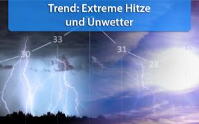 Extreme Hitze und Unwetter Monatswechsel Juli/August 2020