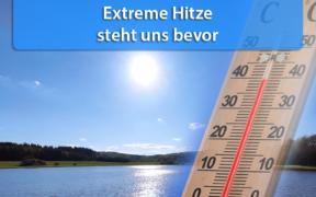 Extreme Hitze Monatswechsel Juli/August 2020
