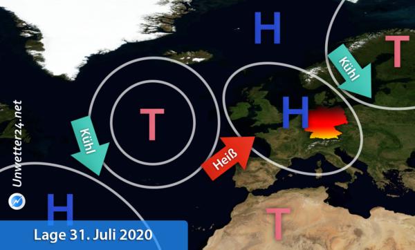 Hitze Europa Ende Juli 2020