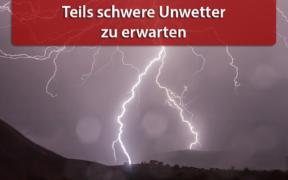 Brisante Unwetterlage 13. und 14. August 2020