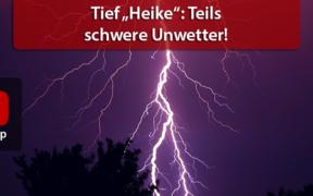 """Unwetterlage Tief """"Heike"""" 13. und 14. August 2020"""