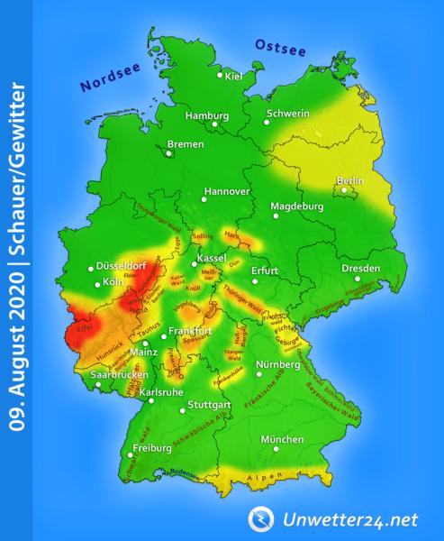 Orographische Gewitter 09. August 2020