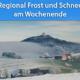 Schnee und Frost Ende September 2020