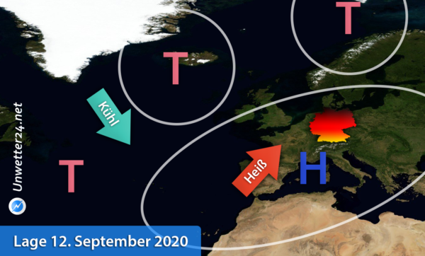 Hitzewelle Mitte September 2020