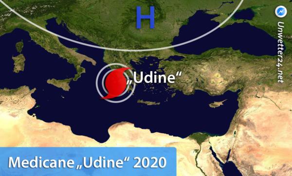 Medicane Udine 2020