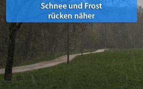 Schnee und Frost Mitte Oktober 2020