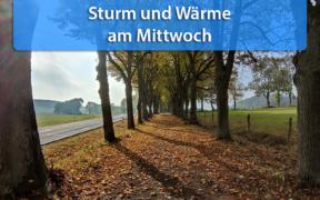 Sturm und Wärme am 21. Oktober 2020