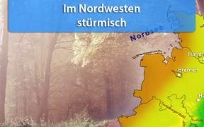 Sturmtief Lucy Nacht zum 25. Oktober 2020
