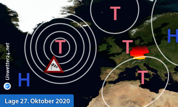 Orkantief Nordatlantik Ende Oktober 2020