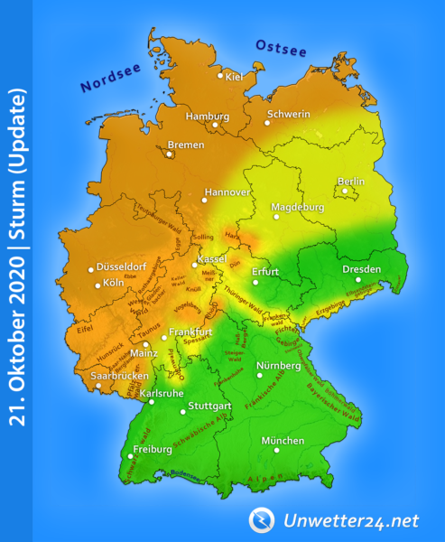 Sturm Jadranka am 21. Oktober 2020
