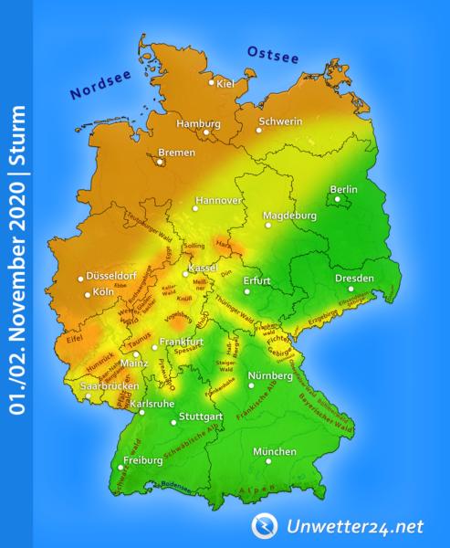 Sturm Anfang November 2020