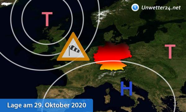 Wetterlage 29. Oktober 2020