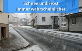 Schnee und Frost Ende November 2020