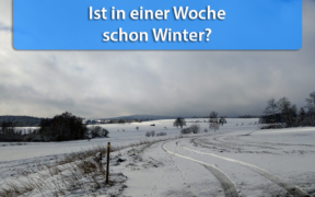 Wintereinbruch Ende November 2020