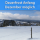 Winterlich Anfang Dezember 2020