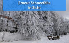 Schnee Anfang Dezember 2020