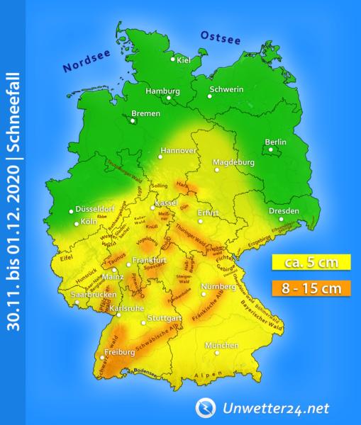 Dauerschneefall Monatswechsel November-Dezember 2020