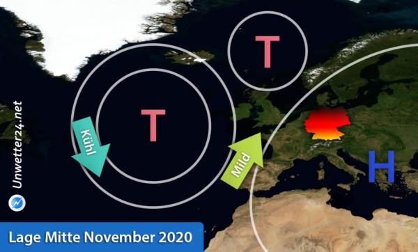 Wetterlage Mitte November 2020
