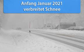 Schnee Anfang Januar 2021