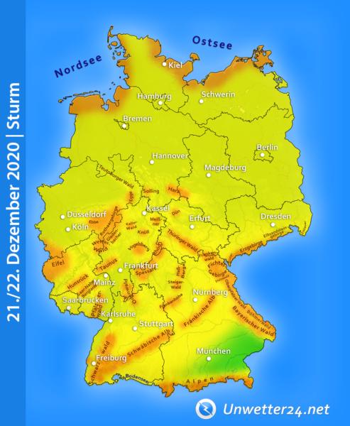 Stürmisch 21. und 22. Dezember 2020