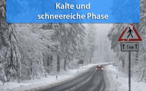 Schnee und Dauerfrost Anfang Januar 2021