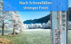 Strenger Frost Mitte Januar 2021