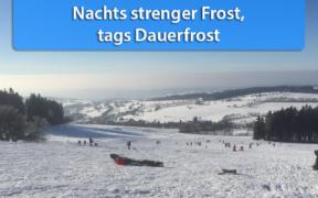 Strenger Frost und Dauerfrost Januar 2021