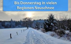 """Schneefälle durch Tief """"Dimitrios"""" 2021"""