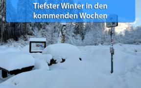 Massiver Wintereinbruch Ende Januar 2021