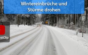 Schnee und Stürme Januar und Februar 2021