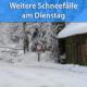 Schauerartige Schneefälle am 26. Januar 2021
