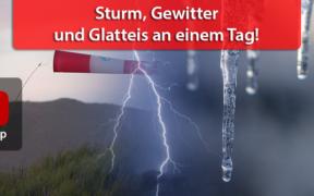 Sturm/Orkan, Gewitter und Glatteis am 03. Februar 2021