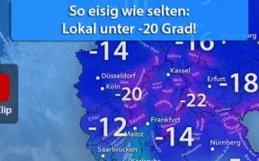 Strenger Frost Februar 2021