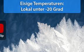 Teils unter -20 Grad Mitte Februar 2021