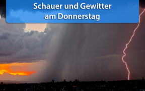 Schauer und Gewitter Anfang März 2021