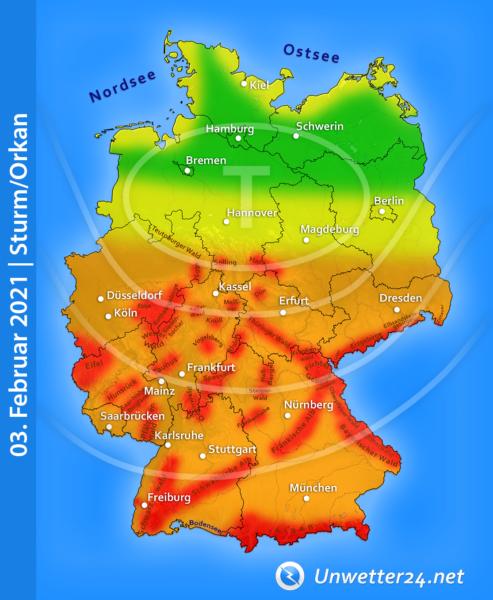 """Sturm """"Siegbert"""" am 03. Februar 2021"""