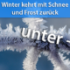 Frost und Schnee März 2021