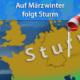 März 2021 Schnee, Frost und Sturm