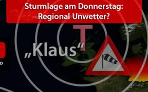 """Sturmlage """"Klaus"""" März 2021"""