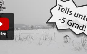 Schnee und Frost Mitte März 2021