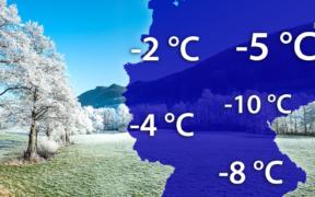 Teils strenger Frost Ende März 2021