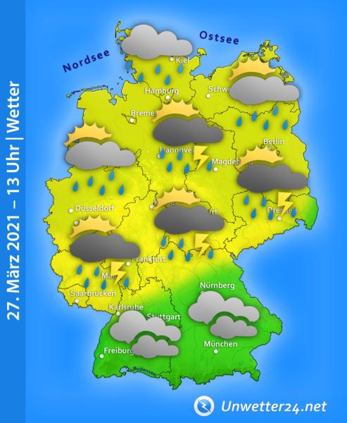 Gewitter und Graupel 27. März 2021