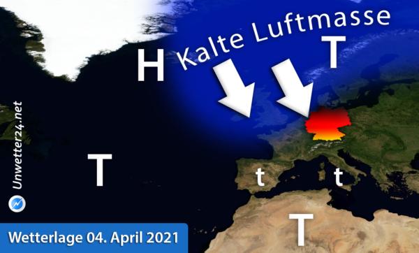 Wetterlage 04. April 2021