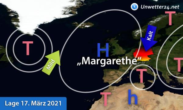 Wetterlage Europa 17. März 2021