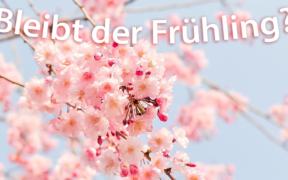 Frühlingswetter Ende April 2021