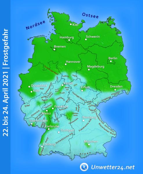 Frostgefahr Ende April 2021