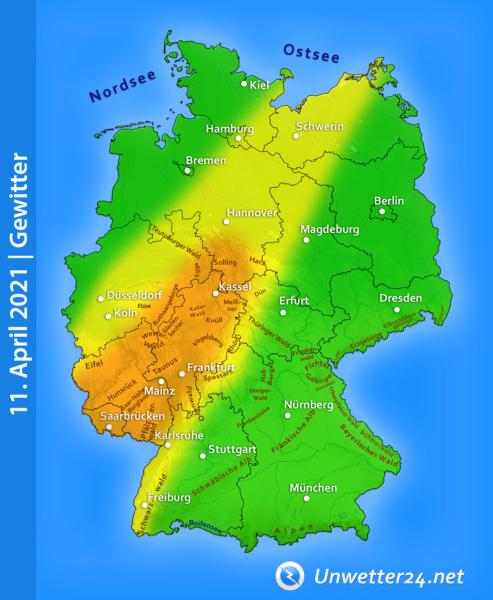 Gewitter am 11. April 2021