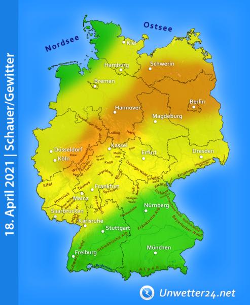 Gewitter am 18. April 2021