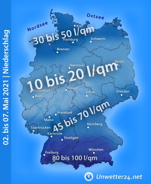 Niederschlag Anfang Mai 2021
