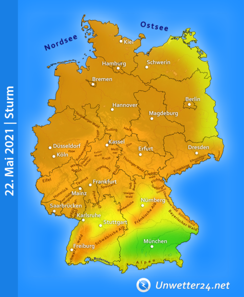 Sturm Marco am 22. Mai 2021
